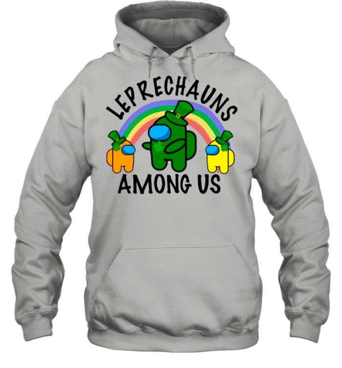 Leprechauns Among Us Imposter Rainbow St Patricks Day shirt Unisex Hoodie