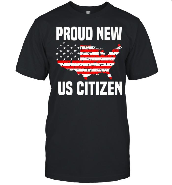 Proud new US citizen Red line flag shirt