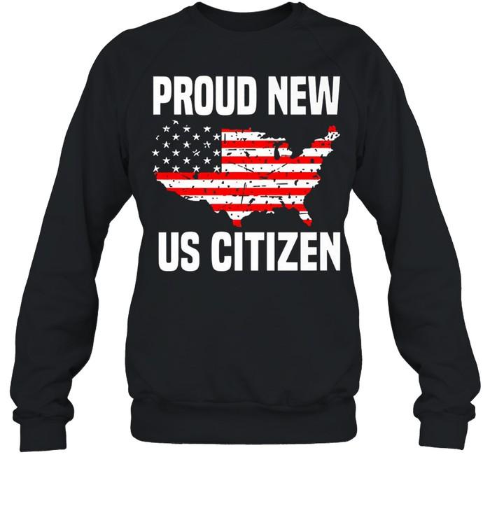 Proud new US citizen Red line flag shirt Unisex Sweatshirt