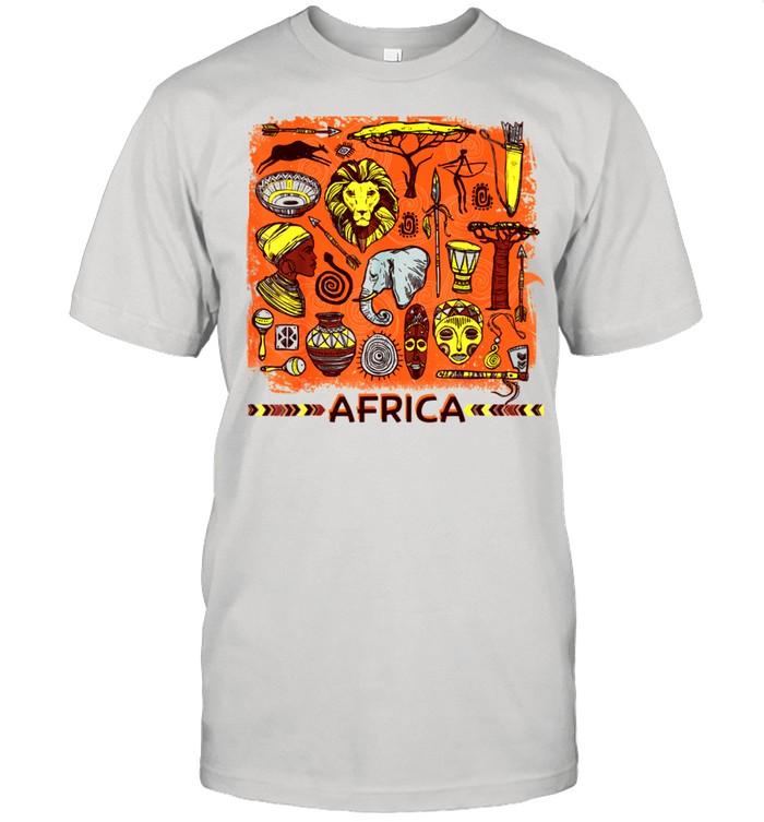 African Mask Art American Beautiful Black History BLM shirt