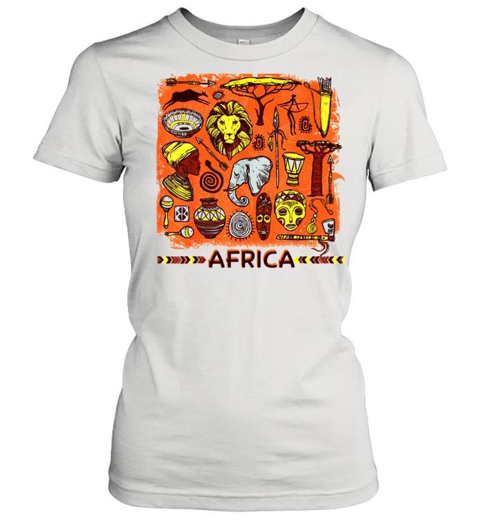 African Mask Art American Beautiful Black History BLM shirt Classic Women's T-shirt