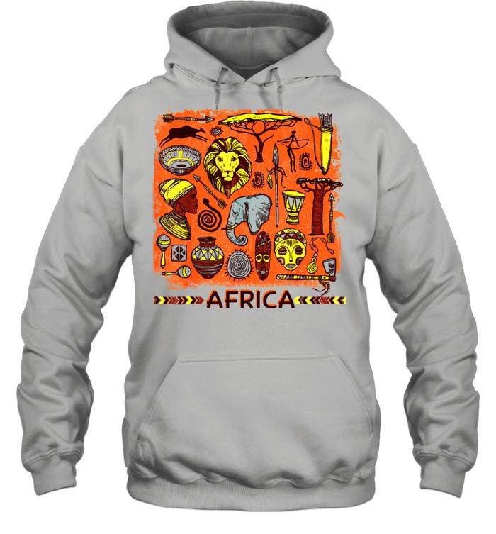 African Mask Art American Beautiful Black History BLM shirt Unisex Hoodie