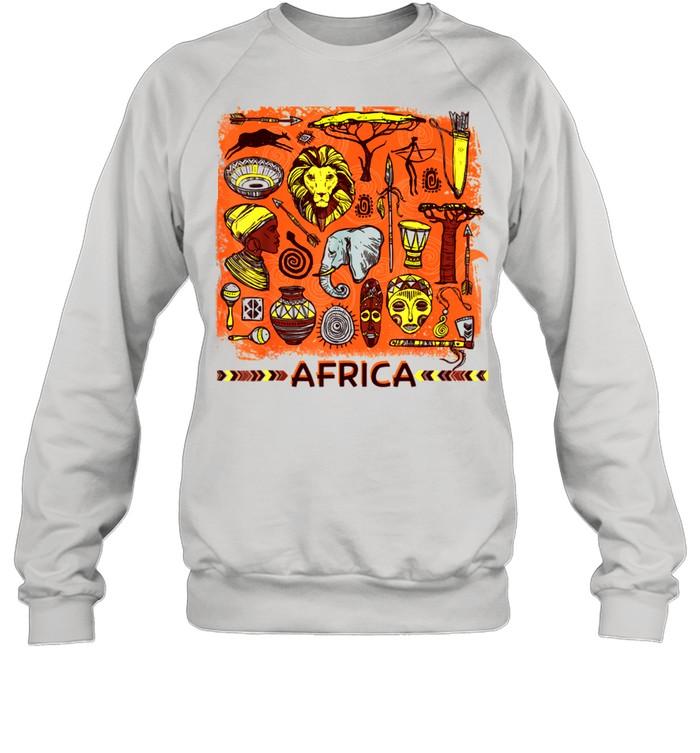 African Mask Art American Beautiful Black History BLM shirt Unisex Sweatshirt