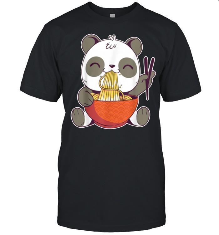 Kawaii Panda Eating Ramen Noodles shirt