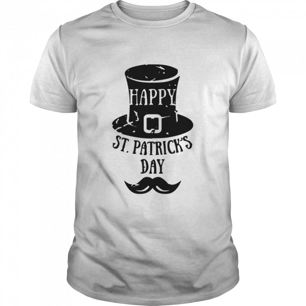 Happy St Patrick's Day Top Hat Mustache Irish Holiday shirt