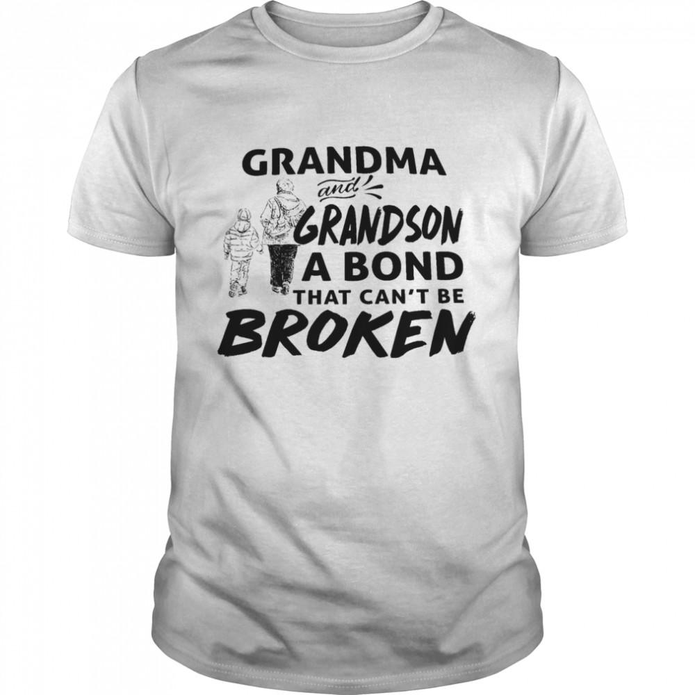 Grandma and grandson that cant be broken shirt