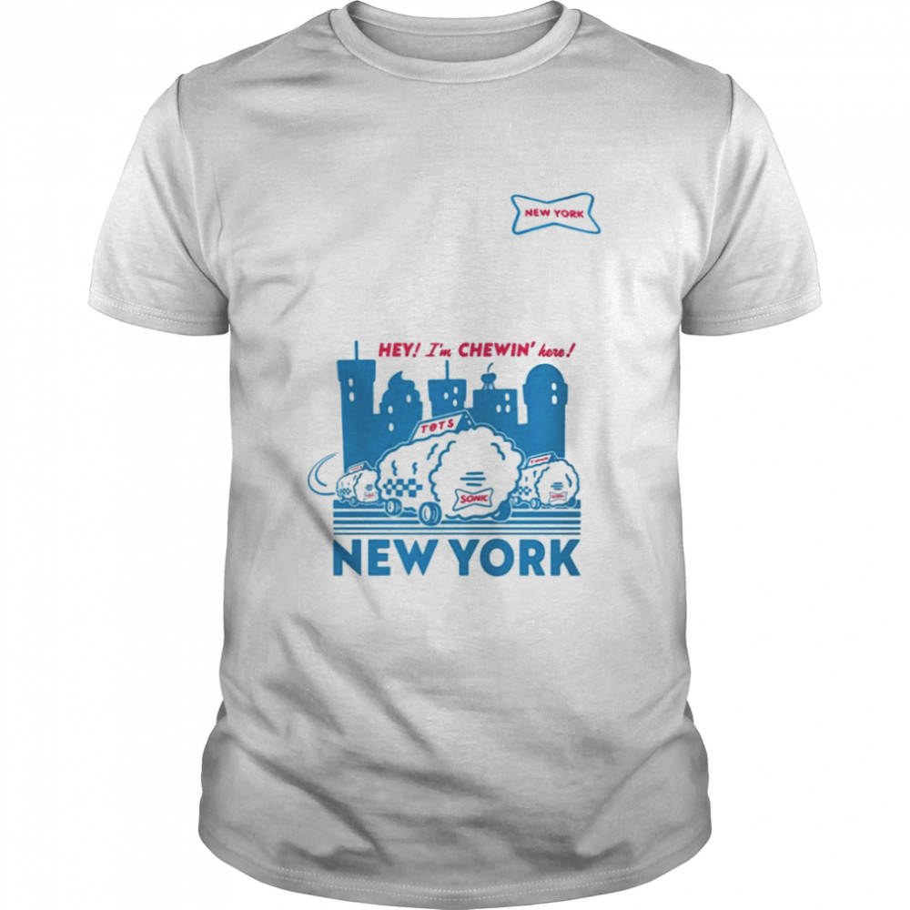 Sonic hey I'm chewin' here New York shirt