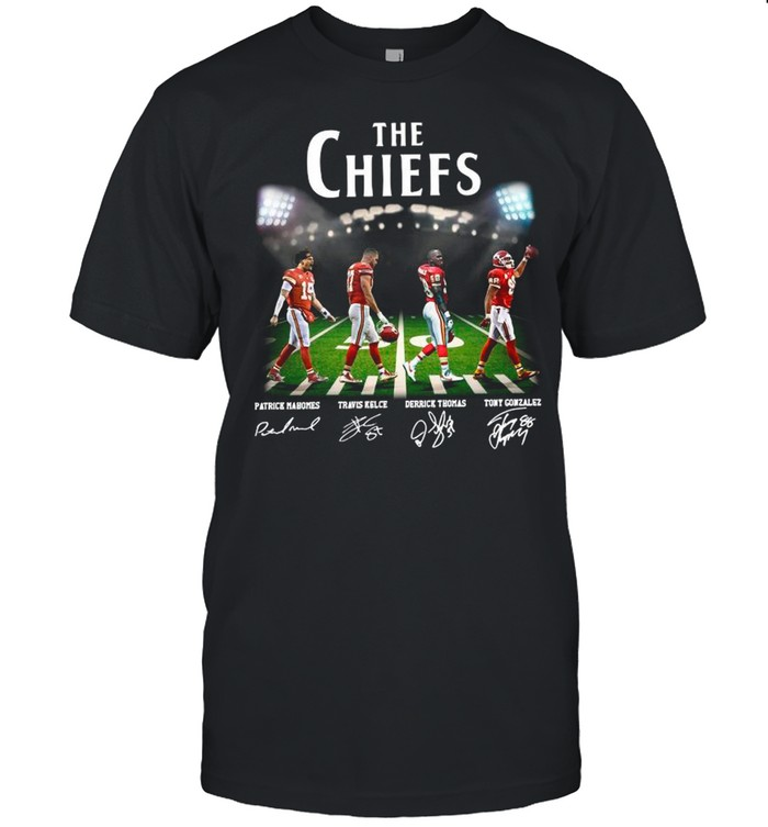 Champions The Chiefs With Mahomes Kelce Thomas And Gonzales Abbey Road shirt