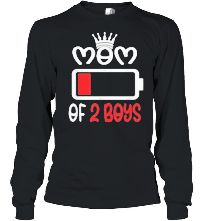 Mom Of 2 Boys Mothers Day shirt Long Sleeved T-shirt