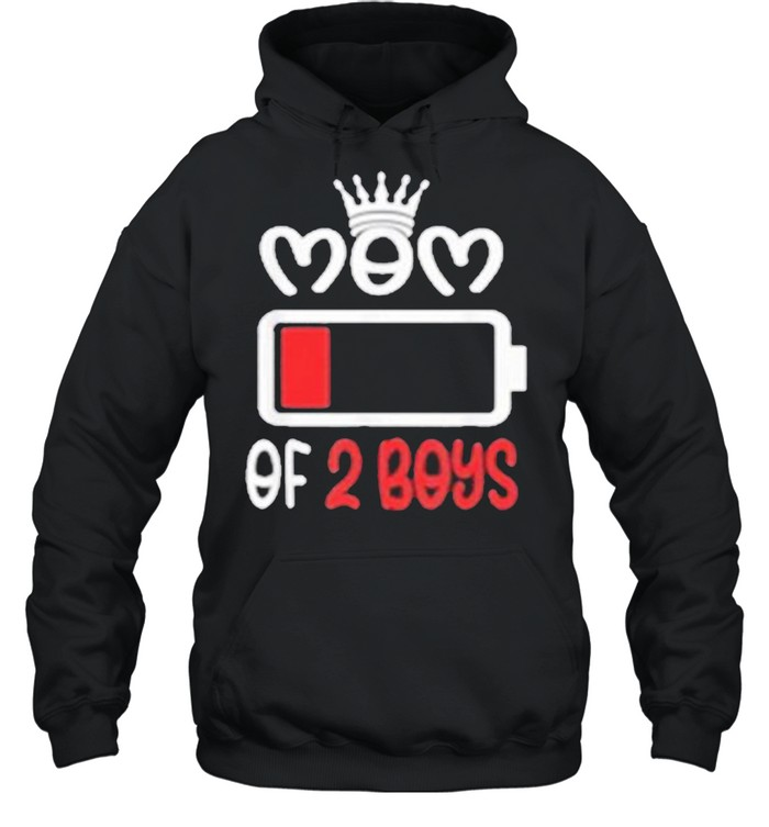 Mom Of 2 Boys Mothers Day shirt Unisex Hoodie