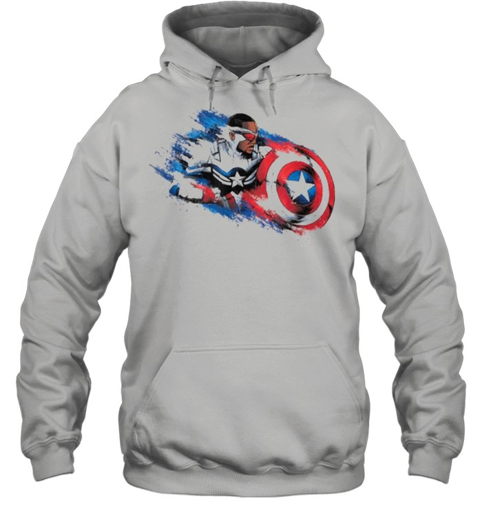 Marvel The Falcon the Winter Soldier Captain America Paint  Unisex Hoodie
