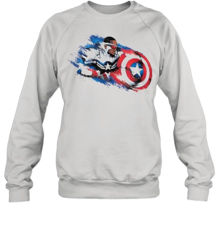 Marvel The Falcon the Winter Soldier Captain America Paint  Unisex Sweatshirt