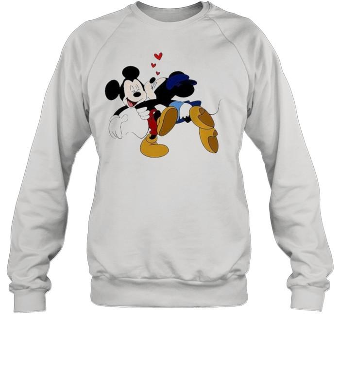 Minnie Mickey Kisses Disney  Unisex Sweatshirt