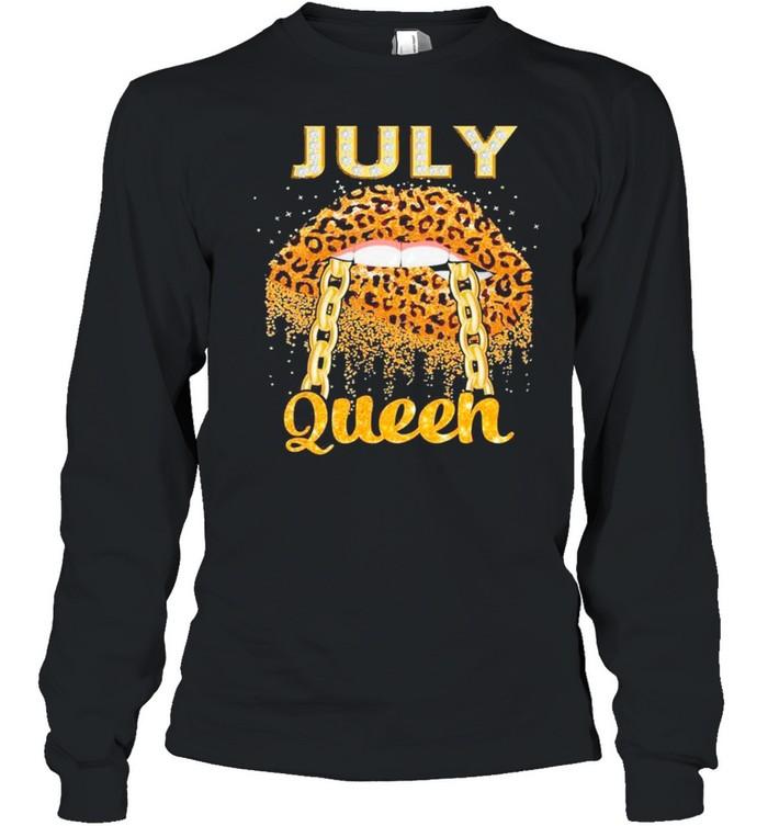 Diamond Lips July Queen shirt Long Sleeved T-shirt