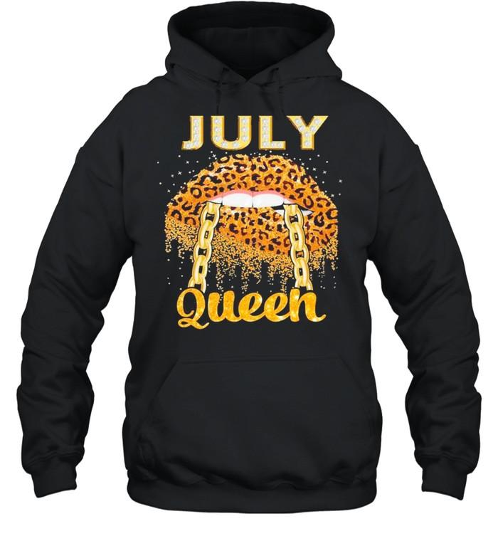 Diamond Lips July Queen shirt Unisex Hoodie