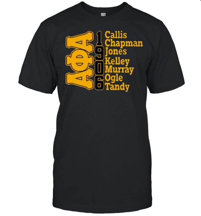 Alpha phi alpha Callis chapman jones kelley murray ogle tandy 1906 shirt