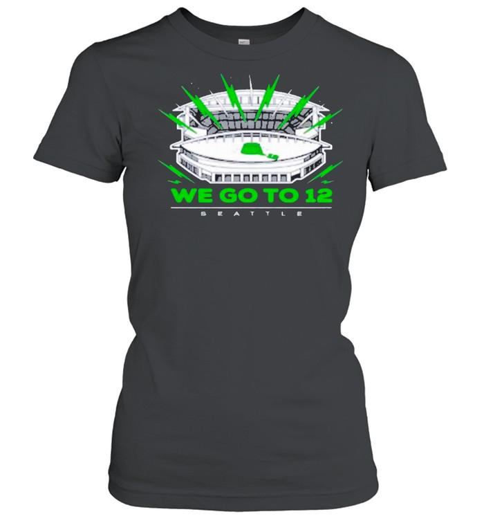 """We Go To 12"" Seattle Seahawks shirt Classic Women's T-shirt"