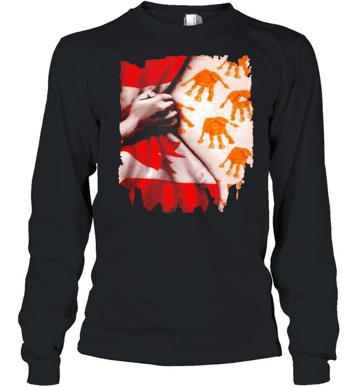 Every child matters Canada flag shirt Long Sleeved T-shirt