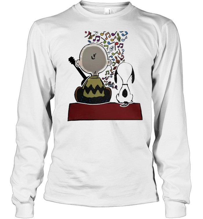 Friend And Snoopy Play Musical  Long Sleeved T-shirt