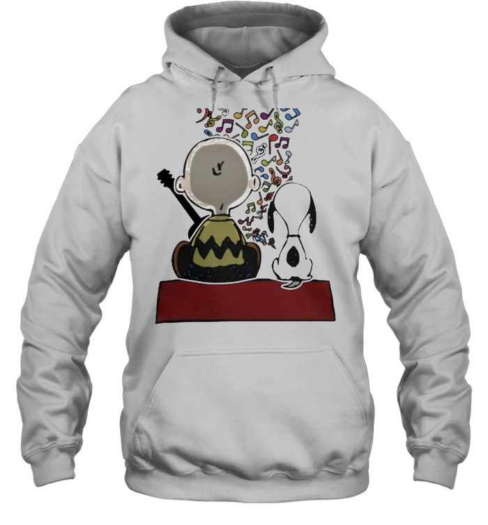 Friend And Snoopy Play Musical  Unisex Hoodie