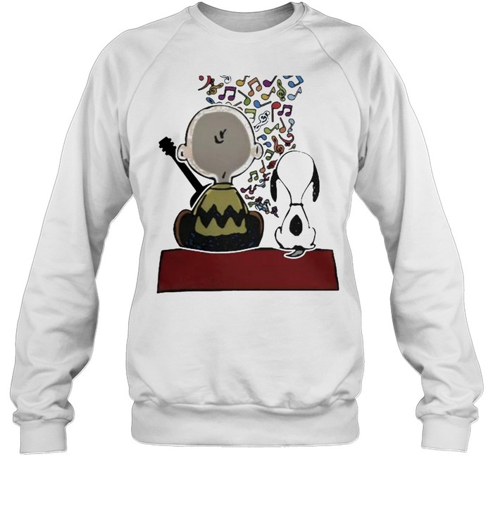 Friend And Snoopy Play Musical  Unisex Sweatshirt