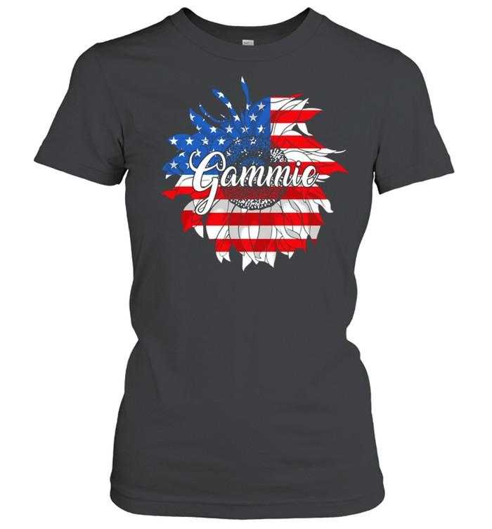American Flag Sunflower 4th of July shirt Classic Women's T-shirt
