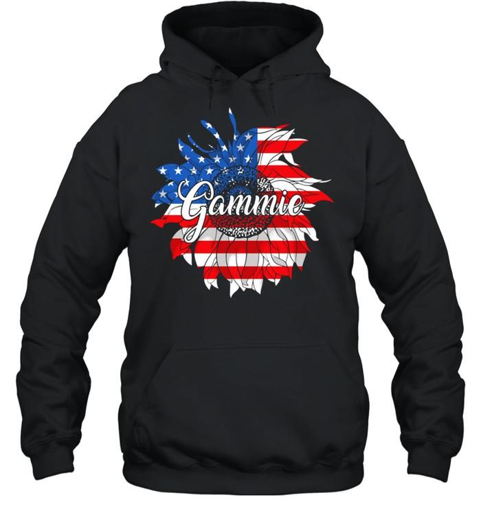 American Flag Sunflower 4th of July shirt Unisex Hoodie