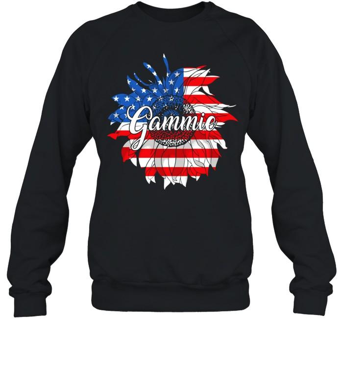 American Flag Sunflower 4th of July shirt Unisex Sweatshirt