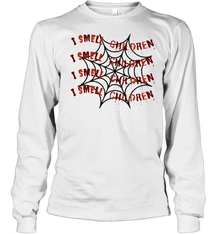 Halloween Hocus Pocus I smell children shirt Long Sleeved T-shirt