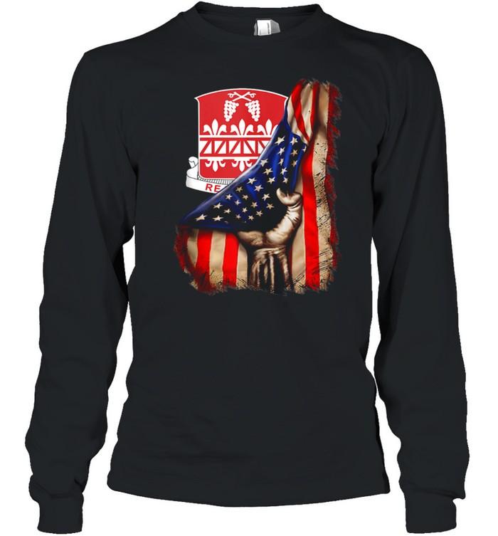 926th Engineer Battalion American Flag shirt Long Sleeved T-shirt