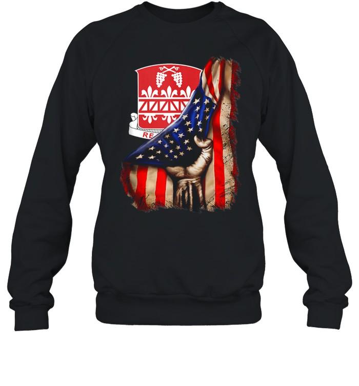 926th Engineer Battalion American Flag shirt Unisex Sweatshirt