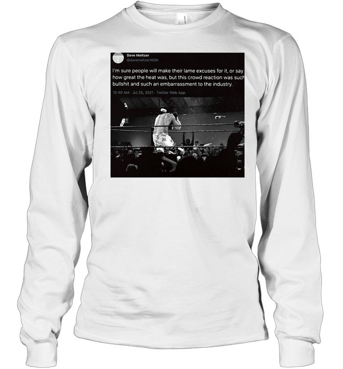I'm Sure People Will Make Their Lame Excuses For It Or Say How Great The Heat Was T-shirt Long Sleeved T-shirt
