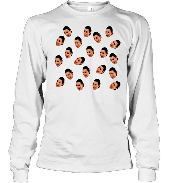 Kim Kardashian crying Pattern shirt Long Sleeved T-shirt