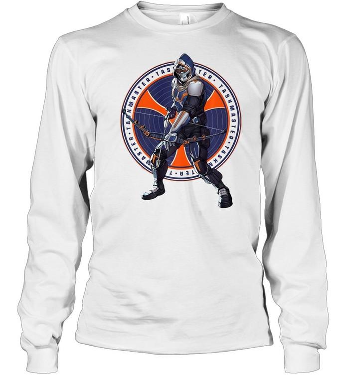 Marvel Black Widow Taskmaster Logo Overlay T-shirt Long Sleeved T-shirt