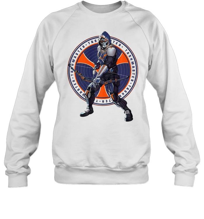 Marvel Black Widow Taskmaster Logo Overlay T-shirt Unisex Sweatshirt