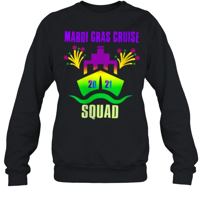 Mardi Gras Cruise Squad 2021Group Matching Outfit T- Unisex Sweatshirt