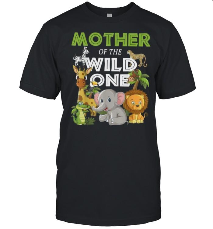 mother of the Wild One Zoo Birthday Safari Jungle Animal T-Shirt