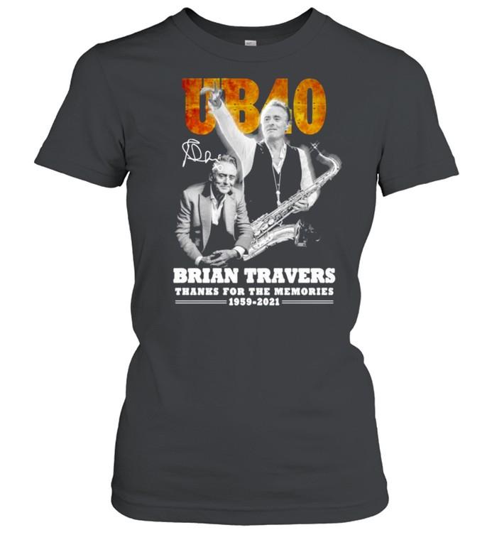 UB40 Brian Travers signature thanks for the memories shirt Classic Women's T-shirt