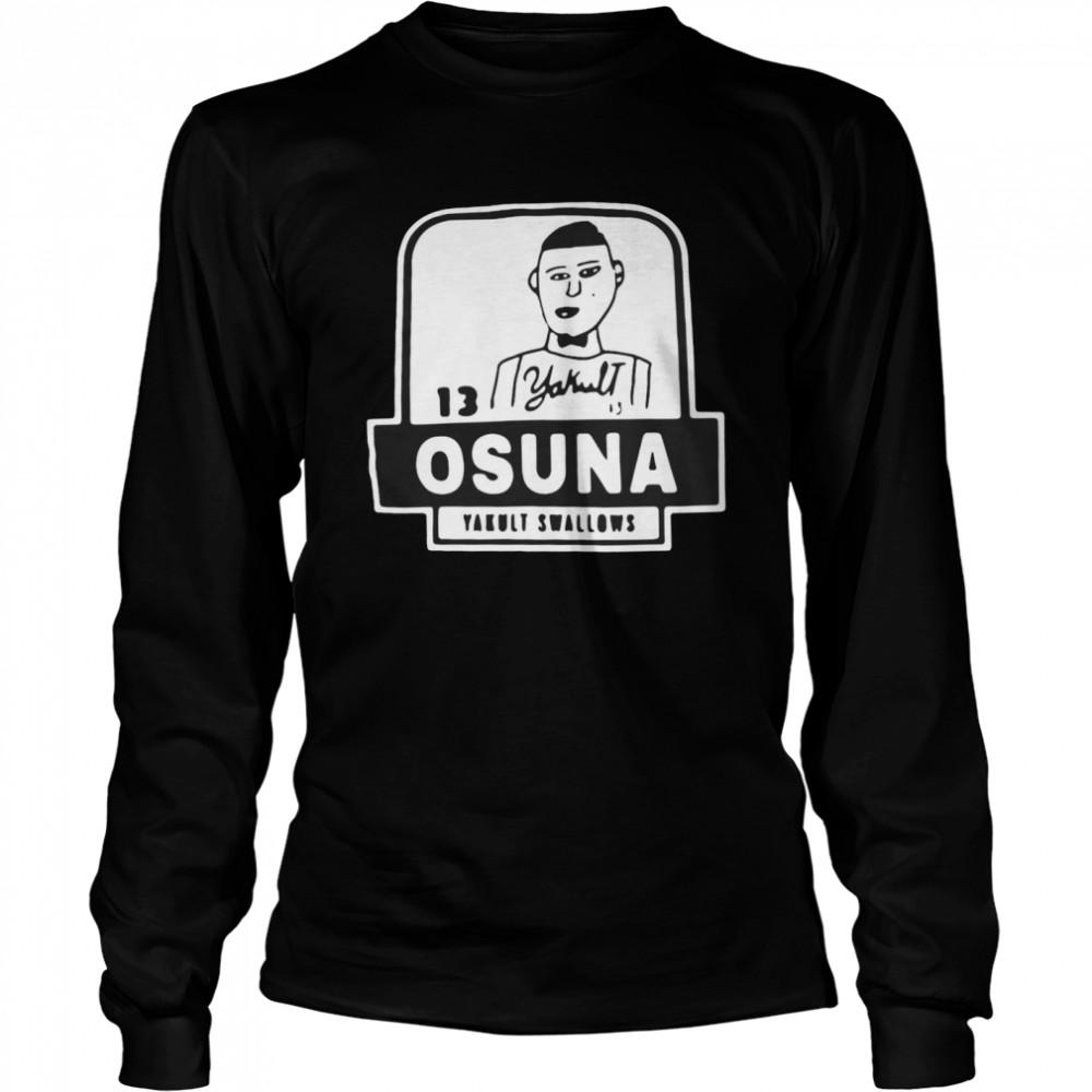 13 Yakult Osuna Yakult Swallows T-shirt Long Sleeved T-shirt