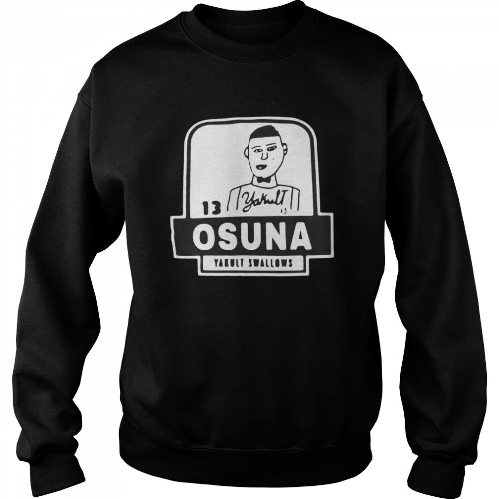 13 Yakult Osuna Yakult Swallows T-shirt Unisex Sweatshirt