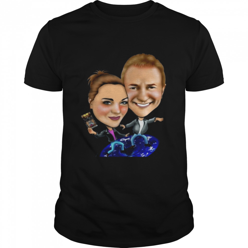 Airplane Caricatures And Caricature Drawing Patrick And Alyssa T-shirt