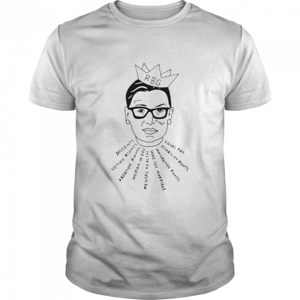 RBG Dissents Voting Rights Abortion Rights Woman In Edu Mental Health T-shirt